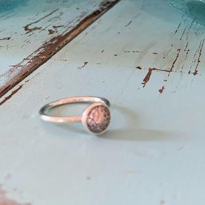 Pandora sterling CZ Dazzling Droplet ring Size 7